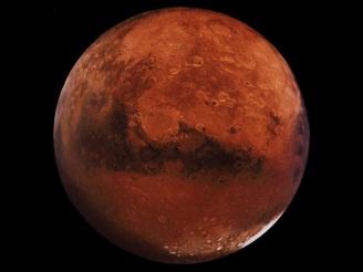 planeta marte visto do telescópio