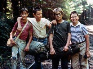 Wil Wheaton, River Pheonix, Corey Feldman e Jerry O'Connell, elenco de Conta Comigo.