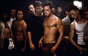 Cena de brad Pitt em Clube da Luta