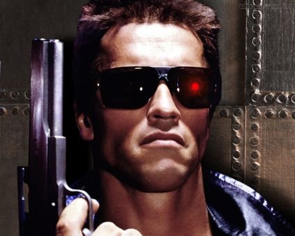 Arnold Schwarznegger em Exterminador do Futuro