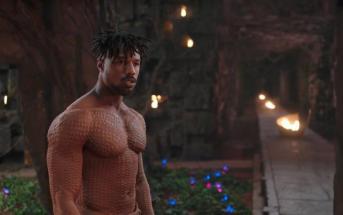 Michael B Jordan como N'jadaka em Pantera Negra